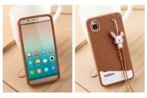 """Фирменная необычная уникальная полимерная мягкая задняя панель-чехол-накладка для Huawei Honor 7i Dual Sim/ShotX 5.2"""" """"тематика Андроид в Темном  Шоколаде"""""""