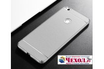 Фирменная ультра-тонкая пластиковая задняя панель-чехол-накладка для Huawei Honor 8 (FRD-AL00) 5.2 серебристого цвета