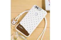 """Фирменная необычная уникальная полимерная мягкая задняя панель-чехол-накладка для Huawei Honor 8 (FRD-AL00) 5.2"""" """"тематика Андроид в Белом Шоколаде"""""""