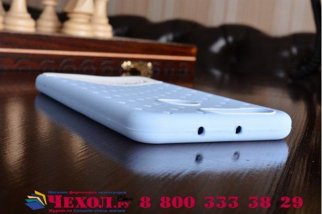 """Фирменная необычная уникальная полимерная мягкая задняя панель-чехол-накладка для Huawei Honor 8 (FRD-AL00) 5.2"""" """"тематика Андроид в черничном шоколаде"""""""