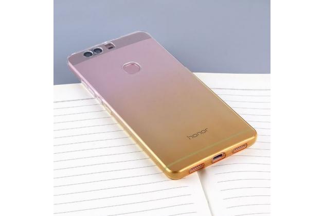 """Фирменная ультра-тонкая полимерная задняя панель-чехол-накладка из силикона для  Huawei Honor 8 (FRD-AL00) 5.2""""  прозрачная  с эффектом песка"""