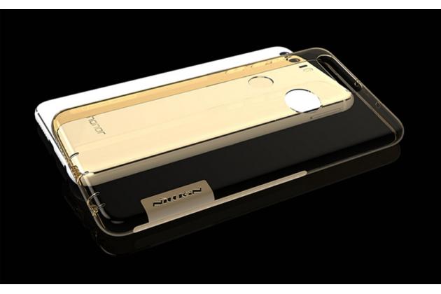"""Фирменная ультра-тонкая силиконовая задняя панель-чехол-накладка с защитой боковых кнопок для Huawei Honor 8 (FRD-AL00) 5.2"""" золотая"""
