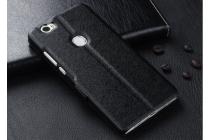 """Фирменный чехол-книжка для Huawei Honor Note 8/EDI-AL10 6.6"""" черный с окошком для входящих вызовов и свайпом водоотталкивающий"""