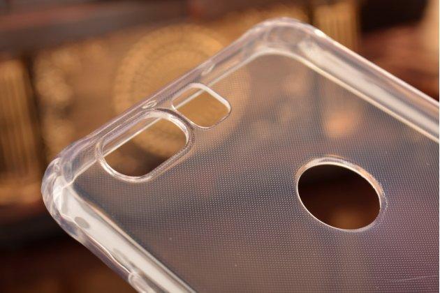 """Фирменная ультра-тонкая полимерная задняя панель-чехол-накладка из силикона для Huawei Honor 8 (FRD-AL00) 5.2"""" прозрачная с эффектом дождя"""