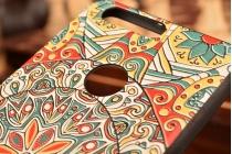 """Фирменная уникальная задняя панель-крышка-накладка из тончайшего силикона для Huawei Honor 8 (FRD-AL00) 5.2"""" с объёмным 3D рисунком """"тематика Эклектические Узоры"""""""