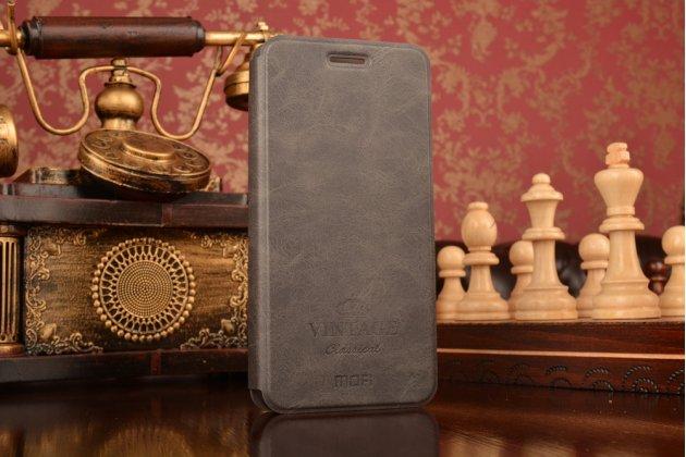 """Фирменный премиальный чехол-книжка из качественной импортной кожи с мульти-подставкой и визитницей на жёсткой металлической основе для Huawei Honor 8 (FRD-AL00) 5.2"""" """"Винтаж"""" черный"""