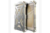 """Противоударный металлический чехол-бампер из цельного куска металла с усиленной защитой углов и необычным экстремальным дизайном  для Huawei Honor 8 (FRD-AL00) 5.2"""" серебряного цвета"""