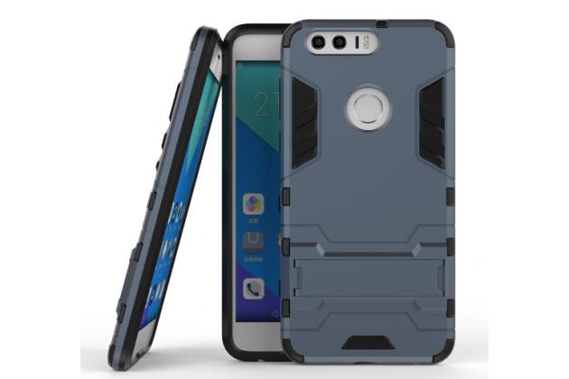 """Противоударный усиленный ударопрочный фирменный чехол-бампер-пенал для Huawei Honor 8 (FRD-AL00) 5.2""""  черный"""