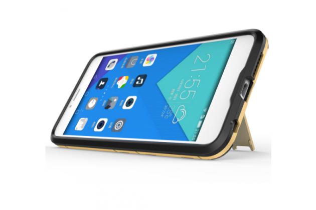 """Противоударный усиленный ударопрочный фирменный чехол-бампер-пенал для Huawei Honor 8 (FRD-AL00) 5.2""""   золотой"""