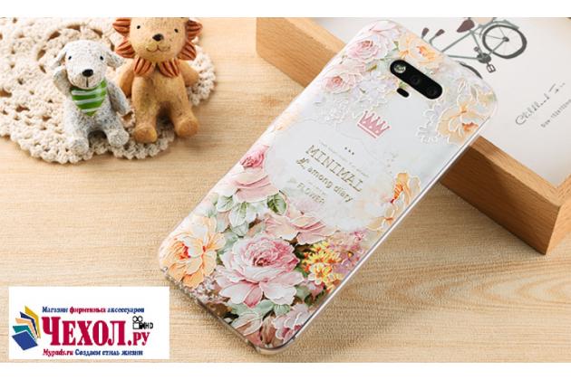 Фирменная уникальная задняя панель-крышка-накладка из тончайшего силикона для Huawei Honor Magic с объёмным 3D рисунком тематика Королевские цветы