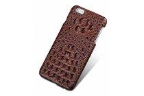 """Фирменная роскошная эксклюзивная накладка с объёмным 3D изображением рельефа кожи крокодила коричневая для Huawei Honor Note 8/EDI-AL10 6.6"""". Только в нашем магазине. Количество ограничено"""