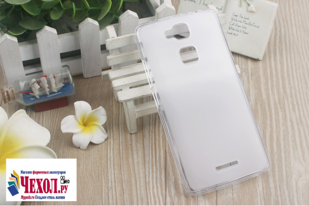 """Фирменная ультра-тонкая силиконовая задняя панель-чехол-накладка для Huawei Honor Note 8/EDI-AL10 6.6"""" белая"""