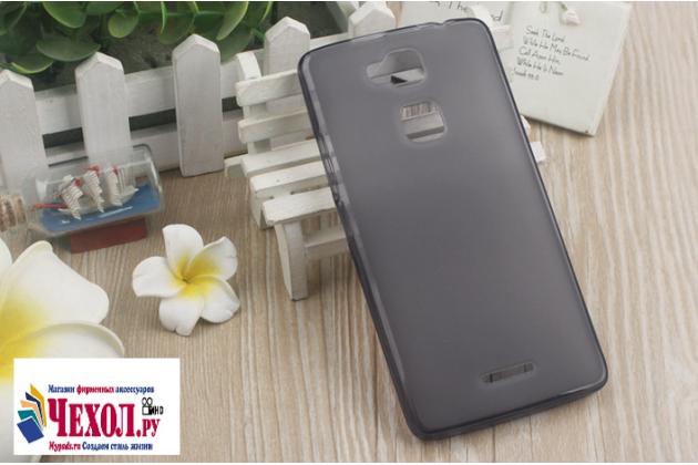 """Фирменная ультра-тонкая силиконовая задняя панель-чехол-накладка для Huawei Honor Note 8/EDI-AL10 6.6"""" серая"""