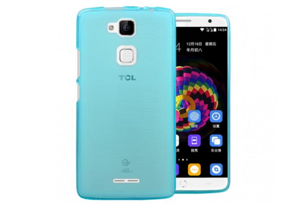 """Фирменная ультра-тонкая силиконовая задняя панель-чехол-накладка для Huawei Honor Note 8/EDI-AL10 6.6"""" голубая"""
