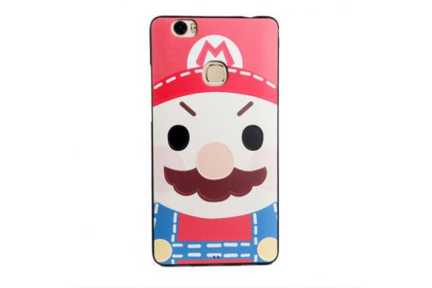 """Фирменная уникальная задняя панель-крышка-накладка из тончайшего силикона для Huawei Honor Note 8/EDI-AL10 6.6"""" с объёмным 3D рисунком """"тематика Марио"""""""