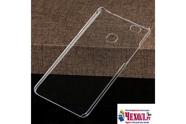 """Фирменная задняя панель-крышка-накладка из тончайшего и прочного пластика для Huawei Honor Note 8/EDI-AL10 6.6"""" прозрачная"""