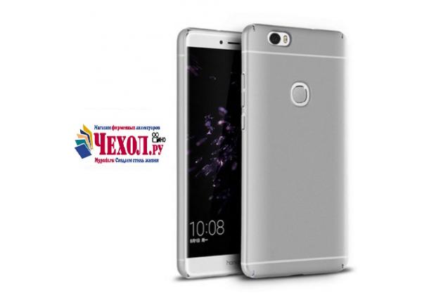 """Фирменная задняя панель-крышка-накладка из тончайшего и прочного пластика для Huawei Honor Note 8/EDI-AL10 6.6"""" серебряная"""