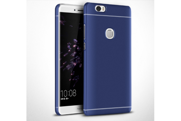"""Фирменная задняя панель-крышка-накладка из тончайшего и прочного пластика для Huawei Honor Note 8/EDI-AL10 6.6""""  синяя"""