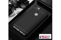 """Фирменная задняя панель-крышка-накладка из тончайшего и прочного пластика для Huawei Honor Note 8/EDI-AL10 6.6"""" черная"""