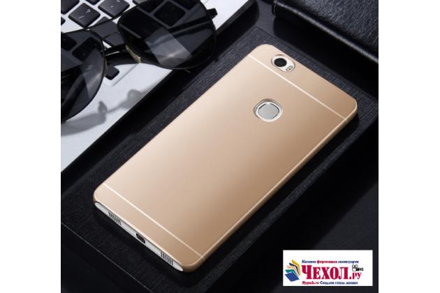 """Фирменная задняя панель-крышка-накладка из тончайшего и прочного пластика для  Huawei Honor Note 8/EDI-AL10 6.6""""  золотая"""