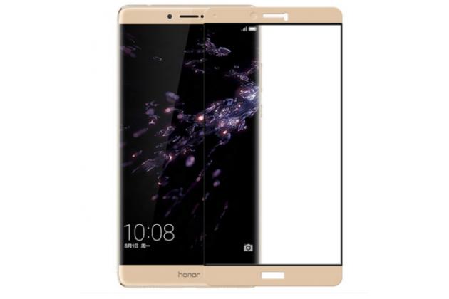 """Фирменное 3D стекло  которое полностью закрывает экран / дисплей по краям с олеофобным покрытием для Huawei Honor Note 8/EDI-AL10 6.6"""""""