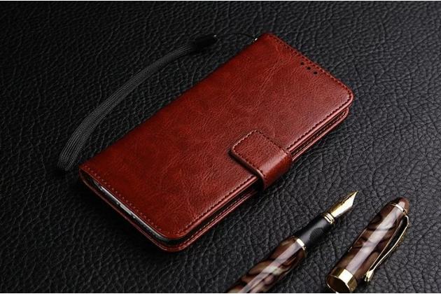 """Фирменный чехол-книжка для  Huawei Honor Note 8/EDI-AL10 6.6"""" с визитницей и мультиподставкой коричневый кожаный"""