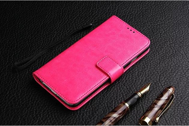 """Фирменный чехол-книжка для Huawei Honor Note 8/EDI-AL10 6.6"""" с визитницей и мультиподставкой розовый кожаный"""