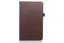 """Фирменный чехол-обложка с подставкой для Huawei Honor Pad 2 (JDN-W09/AL00)"""" коричневый кожаный"""