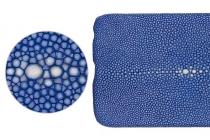 """Фирменная роскошная эксклюзивная накладка  из натуральной рыбьей кожи СКАТА (с жемчужным блеском) синий для Huawei Honor V8 Dual Sim 4G 5.7""""/ Только в нашем магазине. Количество ограничено"""