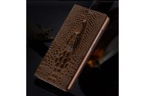 """Фирменный роскошный эксклюзивный чехол с объёмным 3D изображением кожи крокодила коричневый для Huawei Honor V8 Dual Sim 4G 5.7"""". Только в нашем магазине. Количество ограничено"""