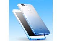 """Фирменная ультра-тонкая полимерная задняя панель-чехол-накладка из силикона для Huawei Honor V8 Dual Sim 4G 5.7"""" с двумя задними камерами прозрачная с эффектом дождя"""