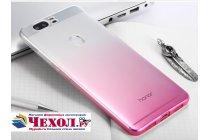 """Фирменная ультра-тонкая полимерная задняя панель-чехол-накладка из силикона для Huawei Honor V8 Dual Sim 4G 5.7"""" с двумя задними камерами прозрачная с эффектом грозы"""