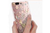"""Фирменная задняя панель-чехол-накладка из прозрачного 3D  силикона с  объёмным рисунком для Huawei Honor V8 Dual Sim 4G 5.7"""" тематика """"оленя в цветах"""" которая огибает логотип чтобы была видна марка телефона"""