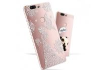 """Фирменная задняя панель-чехол-накладка из прозрачного 3D  силикона с  объёмным рисунком для Huawei Honor V8 Dual Sim 4G 5.7"""" тематика """"девушка в цветах"""" которая огибает логотип чтобы была видна марка телефона"""