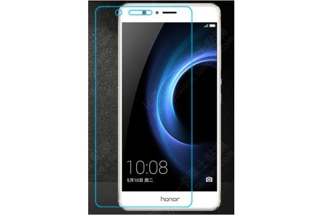 Фирменное защитное закалённое противоударное стекло премиум-класса из качественного японского материала с олеофобным покрытием для телефона Huawei Honor V8