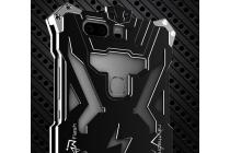 """Противоударный металлический чехол-бампер из цельного куска металла с усиленной защитой углов и необычным экстремальным дизайном  для Huawei Honor V8 Dual Sim 4G 5.7"""" черного цвета"""