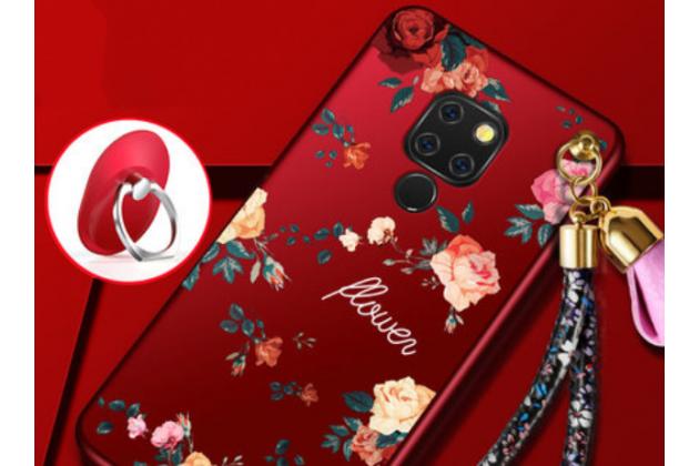 """Фирменная роскошная задняя панель-чехол-накладка  из мягкого силикона с безумно красивым расписным 3D рисунком на Huawei Mate 20 6.53 """"тематика Цветы"""""""