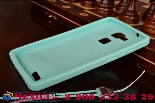 """Фирменная необычная уникальная полимерная мягкая задняя панель-чехол-накладка для Huawei Ascend Mate 7 """"тематика Андроид в Мятном  Шоколаде"""""""