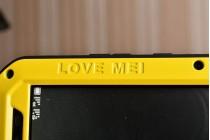 """Неубиваемый водостойкий противоударный водонепроницаемый грязестойкий влагозащитный ударопрочный фирменный чехол-бампер для Huawei Mate 8 (NXT-AL1) 6.0"""" цельно-металлический со стеклом Gorilla Glass желтый"""