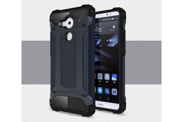 """Противоударный усиленный ударопрочный фирменный чехол-бампер-пенал для Huawei Mate 8 (NXT-AL1) 6.0""""  черный"""