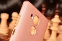 """Фирменная задняя панель-крышка-накладка из тончайшего и прочного пластика для  Huawei Mate 8 (NXT-AL1) 6.0""""  розовая"""
