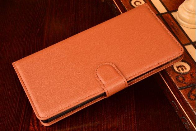 """Фирменный чехол-книжка из качественной импортной кожи с подставкой застёжкой и визитницей для Хюавей Мэйт 8/ Huawei Mate 8 (NXT-AL1) 6.0""""  коричневый"""