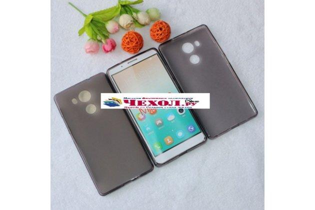 """Фирменная ультра-тонкая полимерная из мягкого качественного силикона задняя панель-чехол-накладка для  Huawei Mate 8 (NXT-AL1) 6.0""""  черная"""