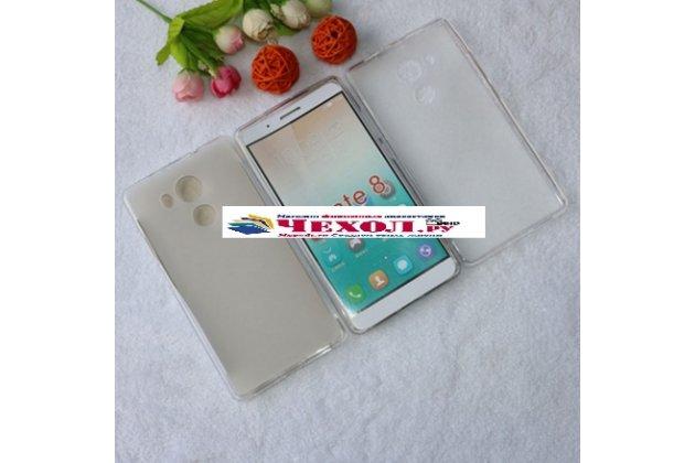 """Фирменная ультра-тонкая полимерная из мягкого качественного силикона задняя панель-чехол-накладка для  Huawei Mate 8 (NXT-AL1) 6.0"""" белая"""