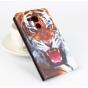 Фирменный уникальный необычный чехол-подставка с визитницей кармашком на Huawei Mate 8 (NXT-AL1) 6.0
