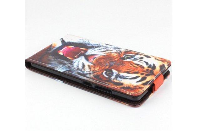 """Фирменный уникальный необычный чехол-подставка с визитницей кармашком на Huawei Mate 8 (NXT-AL1) 6.0""""  """"тематика Тигр"""""""