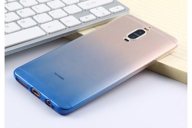 """Фирменная ультра-тонкая полимерная задняя панель-чехол-накладка из силикона для Huawei Mate 9 Pro 5.5"""" (LON-L29) прозрачная с эффектом дождя"""