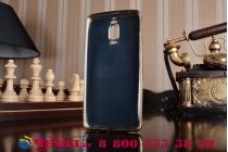 Фирменная премиальная элитная крышка-накладка на Huawei Mate 9 Pro 5.5 (LON-L29) черная из качественного силикона с дизайном под кожу