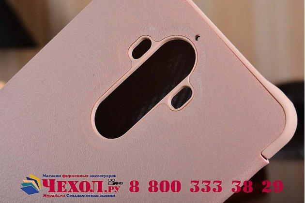 """Фирменный оригинальный подлинный чехол с логотипом для Huawei Mate 9 Pro 5.5"""" (LON-L29) Smart Wake коричневый"""