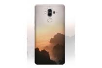 """Фирменная необычная из мягкого и тонкого силикона задняя панель-чехол-накладка для Huawei Mate 9 тематика """"Горный рассвет"""""""